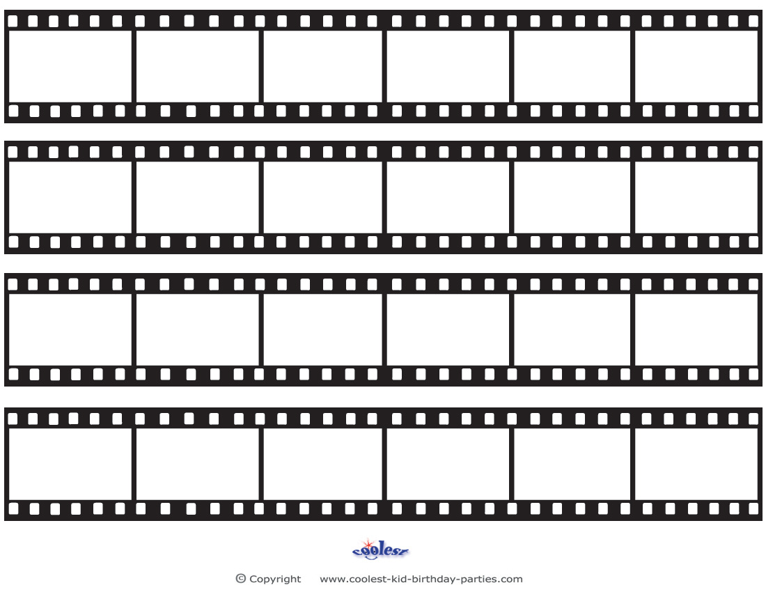printable film strip decoration, Powerpoint templates