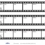 Printable Film Strip Invitations