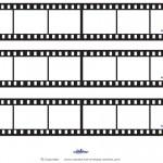 Blank Printable Film Strip Invitations