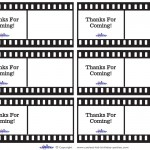 Printable Film Strip Thank You Cards