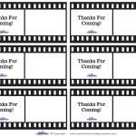 Printable Film Strip Thank You Cards