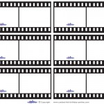 Blank Printable Film Strip Thank You Cards
