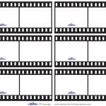 Blank Printable Film Strip Thank You Cards