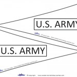 Printable US Army Flags
