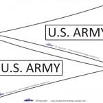 Printable US Army Flags