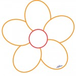 Printable Orange Flower Decoration