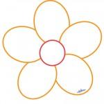 Printable Orange Flower Decoration