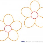 Medium Printable Orange Flower Decorations