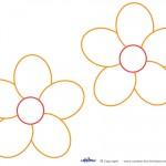 Medium Printable Orange Flower Decorations