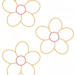Small Printable Orange Flower Decoration