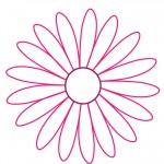 Printable Pink Flower Decoration