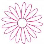 Printable Pink Flower Decoration