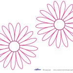 Medium Printable Pink Flower Decorations