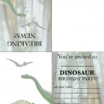 Foldable Dinosaur Invitation