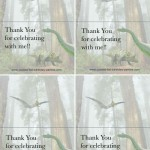 Foldable Dinosaur Thank You Cards