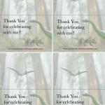 Foldable Dinosaur Thank You Cards