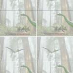 Blank Foldable Dinosaur Thank You Cards