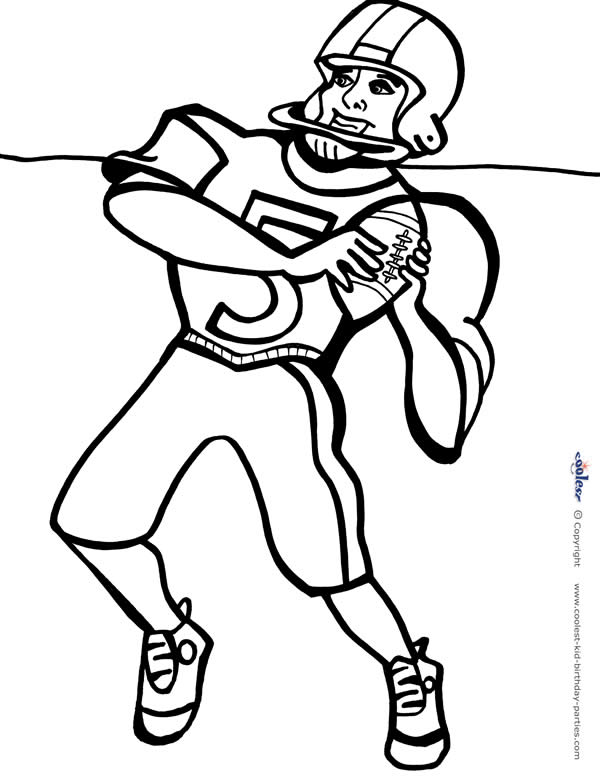 Printable Football Coloring Page 2