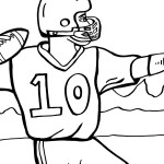 Printable Football Coloring Page 3