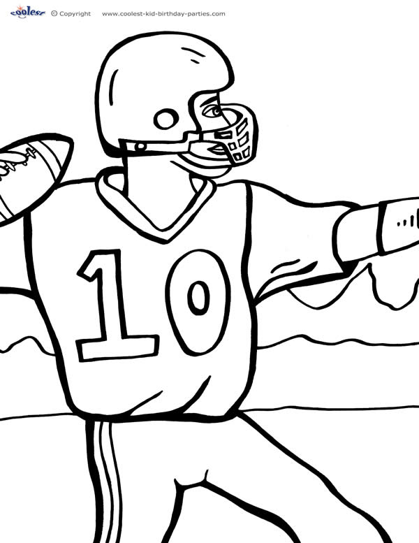 printable football coloring page 3 coolest free printables