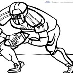 Printable Football Coloring Page 4