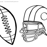 Printable Football Coloring Page 5