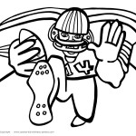 Printable Football Coloring Page 6