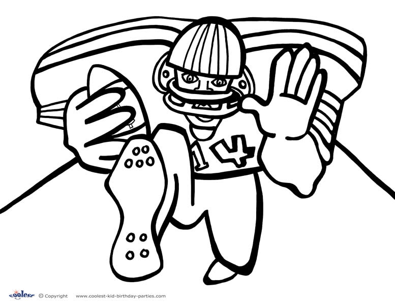 printable football coloring page 6 coolest free printables