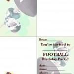 Printable Football Foldable Invitations