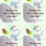 Foldable Football Thank You Cards