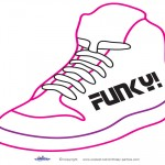 Printable Funky Shoe Decoration