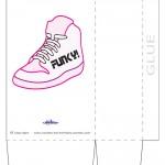 Large Printable Funky Shoe Favorbag