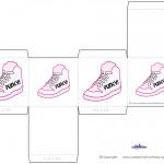 Printable Funky Shoe Favorbox
