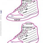 Printable Funky Shoe Invitations