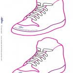Blank Printable Funky Shoe Invitations