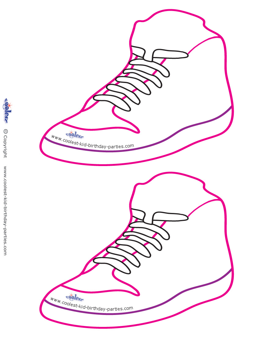 Blank Printable Funky Shoe Invitations Coolest Free Printables