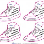 Printable Funky Shoe Thank You Cards