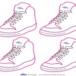 Blank Printable Funky Shoe Thank You Cards