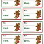 Printable Colored Bear Gift Tags