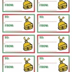 Printable Colored Bell Gift Tags
