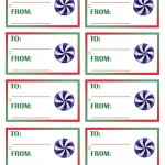 Printable Colored Candy Gift Tags