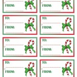 Printable Colored Candycane Gift Tags