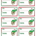 Printable Colored Elf Gift Tags