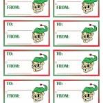 Printable Colored Elf Gift Tags