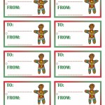 Printable Colored Gingerbread Gift Tags