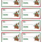Printable Colored House 1 Gift Tags