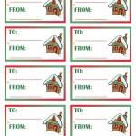 Printable Colored House 1 Gift Tags