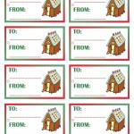 Printable Colored House 2 Gift Tags