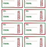 Printable Colored North Pole Gift Tags
