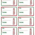 Printable Colored North Pole Gift Tags
